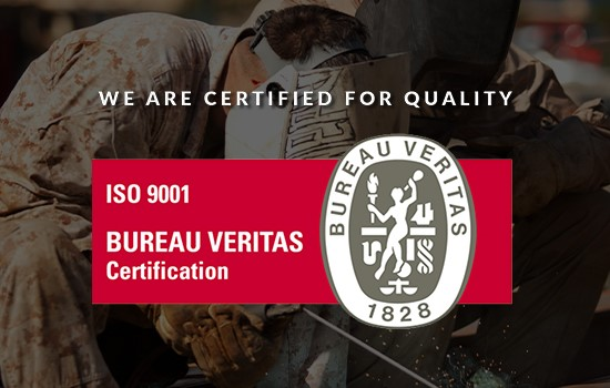 We are certified for quality